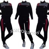 Trening Adidas pentru dama! - Trening dama Adidas, Marime: S, M, L, XL, XXL, Culoare: Negru, Bumbac