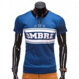 Tricou barbati, Marime: S, M, Culoare: Albastru, Maneca scurta, Bumbac