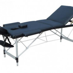 Masa de masaj portabila 3 zone, Pat masaj, Negru - Masa masaj