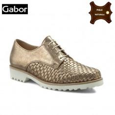 Pantofi dama piele naturala GABOR auriu metalic (Marime: 40) - Pantof dama