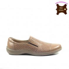 Pantofi barbati piele naturala OTTER maron (Marime: 42)