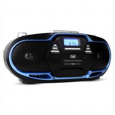Trevi CMP - 574 Boombox CD MP3 USB casetofon AM / FM Radio albastru