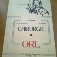 CHIRURGIE ORL /// GARBEA, 1983, ed. a 2 a, revizuita si adaugita - Carte ORL