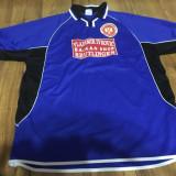 Sveti Sava- tricou fotbal - Tricou barbati, XL, Maneca scurta, Albastru, Poliester