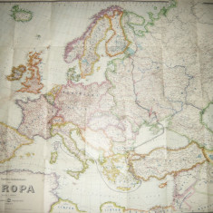 Harta Europei si partial Asia Mica in 1941- Ed Gaeblers Verkehrskarte 1:5000 000
