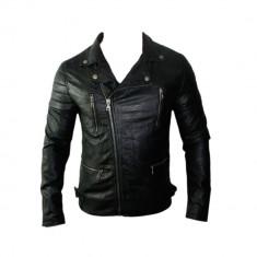 Geaca Barbati Zara David Beckham Jappan Casual Cod Produs 9109, Marime: L, XL, Culoare: Negru, Piele