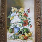Pictura flori semnat Cimpoesu. - Pictor roman, Ulei, Realism