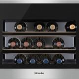 Vitrina de vinuri incorporabila Miele KWT 6112, 46 l, Clasa A+, H 45 cm, Inox