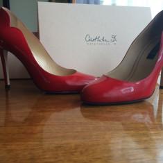 Pantofi Musette - Pantof dama, Marime: 37, Culoare: Rosu