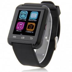 Ceas Smartwatch iUni U8i Bluetooth, LCD 1.44 inch, Touchscreen, Negru