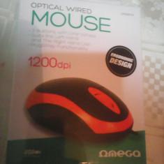 Mouse Omega optic nou 3 butoane, cutie sigilata