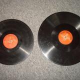 Disc patefon/gramofon Electrecord ROMANIA (2 bucati) din ebonita/vintage/muzica