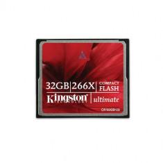 Card Kingston Compact Flash Ultimate 266x 32GB CF/32GB-U2 - Card memorie