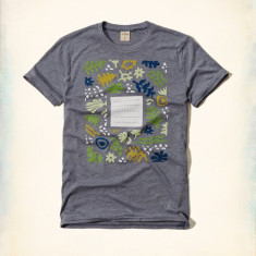 Tricou Hollister - Abercrombie & Fitch mas XL-LICHIDARE DE STOC - Tricou barbati Abercrombie & Fitch, Culoare: Gri, Maneca scurta