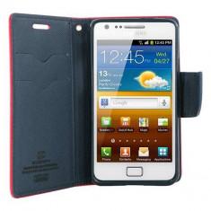 Husa Flip Cover Goospery YFSAMGS2RA My-Fancy rosu / albastru pentru Samsung Galaxy S2 I9100 - Husa Telefon