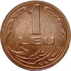 ROMANIA, 1 LEU 1992 - Moneda Romania, Cupru-Nichel