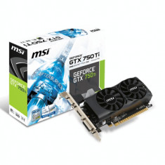 Placa video PCI-E MSI GeForce GTX750TI, 2Gb GDDR5, 128-bit, N750Ti-2GD5TLP, D-Sub, DVI, HDMI + Cutie + Manual + CD Drivere
