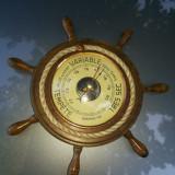 Barometru vechi, francez, in forma de timona de corabie