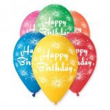 20 Baloane latex colorate 32cm inscriptionate Happy Birthday Artificii
