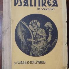 PSALTIREA IN VERSURI de VASILE MILITARU, 1933 - Carte veche