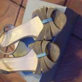 Sandale - Sandale dama, Marime: 41, Culoare: Maro