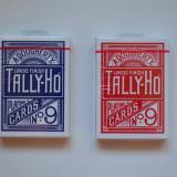 Carti poker Tally-Ho albastre si rosii
