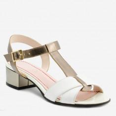 Sandale dama GIULIO. Model Piele Naturala Alba Bronz, Marime: 36, 37, 39, 40, 34, 35, 41