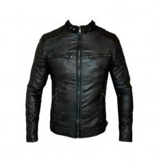 Geaca Barbati Zara David Beckham Jappan Casual Cod Produs 9119, Marime: XS, S, M, L, XL, Culoare: Negru, Din imagine, Piele