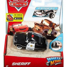 Masinuta Disney Cars Wheel Action Drivers Sheriff Vehicle - Masinuta electrica copii Mattel