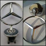 Sigla/emblema noua metal Mercedes-Benz capota cu/fara scris la baza - Embleme auto