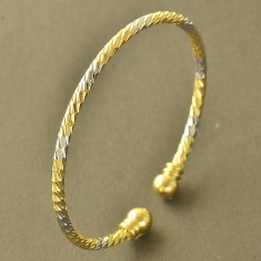 Bratara placate cu aur - Bratara placata cu aur 18K; marime reglabila