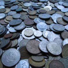 Lot (1) mare 500 monede vechi romanesti si straine, monezi bani diverse tari - Moneda Romania