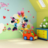 Sticker Perete Autocolant Mickey & Minnie Mouse  Camera Copiilor CALITATE