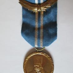 Ordin - MEDALIA R.S.R. TUDOR VLADIMIRESCU CLASA A-II-A CU PANGLICA ORIGINALA STARE BUNA