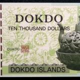 Bancnota Straine, Asia, An: 2012 - Dokdo Islands Koreea de Sud 2012 10000 $ dollars, holograma, unc specimen **