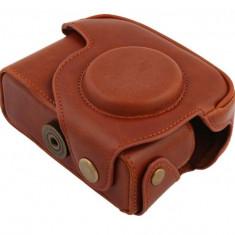 Husa piele ecologica pentru Canon Powershot G12, G11, curea de umar inclusa - Husa Aparat Foto