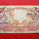 bancnota asia, An: 1959 - INDONEZIA - 10 Rupiah 1959
