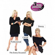 Bluza 3 moduri de purtare Poncho Carresse