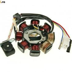 Electrica Moto - MAGNETOU SCUTER CHINEZESC 4T GY6 50cc 8 bobine stator aprindere