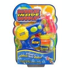 Masina de balonase - Pistol baloane de sapun + rezerva 118 ml