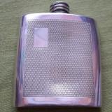 sticla din metal pewter pentru bautura/ tarie/ whisky Sheffield England 3oz