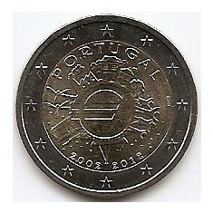 Portugalia 2 Euro 2012 - ( 10 ani de monede si bancnote Euro) KM-812 UNC !!!, Europa, An: 2012