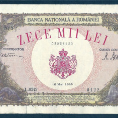 Bancnote Romanesti, An: 1945 - ROMANIA 10000 10.000 LEI 18 MAI 1945 [19]