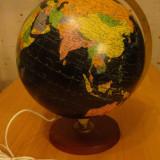 Glob pamantesc MARE diametru 30cm,iluminat interior,joc vechi,colectie Danemarca