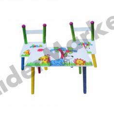 Masuta/scaun copii - Masuta si scaune pentru copii - imprimeu cu animalute