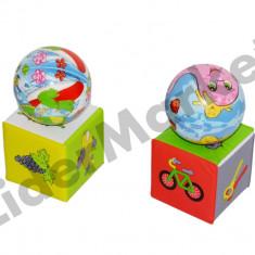 Set cuburi si mingi din burete - 4 piese - Jucarie pentru patut