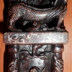 Statueta Dragon China (arta sculptura tablou decorativ colectie marmura jad)