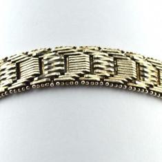 Bratara argint, model impletit Scaletto Riccio, firma bijuterii Milor, Italia, Femei