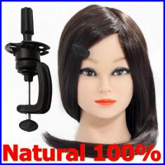 Cap practica coafor manechin par natural 100 %-- SE POATE LUCRA CU PLACA