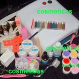 Kit unghii false geluri colorate lampa uv+ GHID APLICARE  - KIT COCO